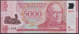 Paraguay 5000 Guaranies 2011 Pnew UNC - Paraguay