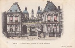 Ph-CPA Lyon (Rhône) L'Hôtel De Ville Façade De La Place De La Comédie, Précurseur - Lyon
