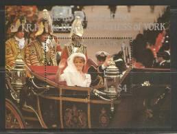 British Virgin Islands 1986 Andrew Royal Wedding Miniature Sheet MNH - British Virgin Islands
