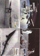 België, Maximumkaarten, Nr 3916/3920, De Winne, ISS, Concorde, Zeppelin, Blériot (6484) - Autres (Air)