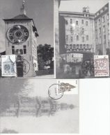 België, Maximumkaarten, Nr 3396/3398 (6548) - Horlogerie