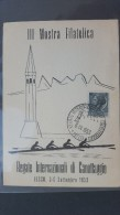 Italy 1953 Regate Internazionali Di Canottaggio Souvenir Card - 6. 1946-.. Republic