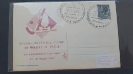 Italy 1955 XI Campionato Del Mondo Di Hockey Su Pista, Souvenir Card - 6. 1946-.. Republic