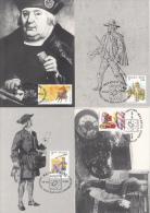 België, Maximumkaarten, Nr 2996/3000, 500 Jaar Post, Belgica 2001, Tassis (6591) - Post