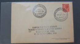Italy 1958 Campionati D'Italia Assoluti Maschili E Femminili Di Atletica Leggera Souvenir Card - 6. 1946-.. Republic