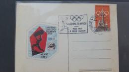 Italy 1960 Selezione Olimpica Pesi Medi E Medio Massimi Souvenir Cover - 6. 1946-.. Republic
