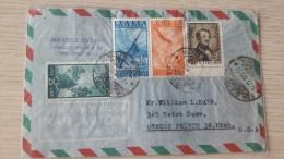Italia 1949 Busta Spedita In USA,Euro - 6. 1946-.. Republic