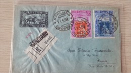 Italia 1951 Centenario Francobolli Di Toscana,Busta Raccomandata Da Manciano A Firenze Euro - 6. 1946-.. Republic