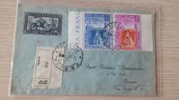 Italia 1951 Centenario Francobolli Di Toscana,Busta Raccomandata Da Pescia A Firenze Euro - 6. 1946-.. Republic