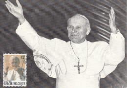 België, Maximumkaarten, Nr 2166, Johannes-Paulus II, Jean-Paul II (6731) - Papas