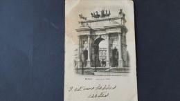 Italia 1900 Cartolina Usata ,Milano Arco Della Pace, Euro - 1900-44 Vittorio Emanuele III