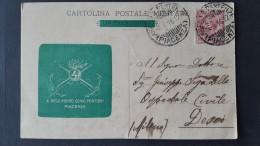 Italia 1916 Cartolina Postale Usata ,4o Reggimento Genio Pontieri ,Euro - 1900-44 Vittorio Emanuele III