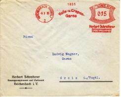 Deutsches Reich, Hertbert Schreiterer, Kammgarnspinnerei Und Zwirnerei, Voie Und Crepon Garne, Reichenbach, 1930 (5885) - Textile