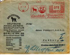 Deutsches Reich, Qualitäts Angelgeräte Bootsmotore, Otto Kuntze, Fritz Ziegenspeck, Berlin, 1933 (5890) - Bateaux
