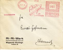 Deutsches Reich, Ri-Ri-Werk, Die Qualitätsmarke, Wuppertal-Wichlinghausen, 1936 (5906) - Textile