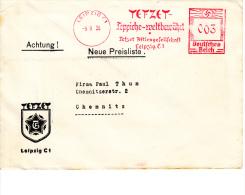 Deutsches Reich, Tefzet, Teppiche-weltbewährt, Leipzig, 1936 (5917) - Textile