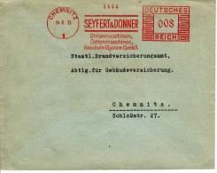 Deutsches Reich, Seyfert & Donner, Strickmaschinen, Cottonmaschinen, Rascheln, Chemnitz, 1935 (5920) - Textile