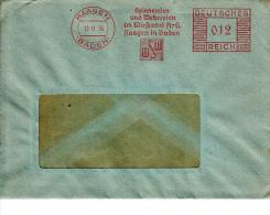 Deutsches Reich, Spinnereien Und Webereien Im Wiesental, Haagen, 1935 (5922) - Textile
