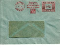 Deutsches Reich, Spinnereien Und Webereien Im Wiesental, Haagen, 1936 (5925) - Textile