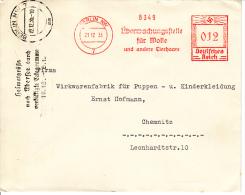 Deutsches Reich, Uberwachungsstelle Für Wolle Und Andere Tierhaare, 1935 (5926) - Textile