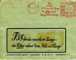 Deutsches Reich, F58, Der Filter Schont Herz, Hals Und Lunge, Zigarettenfabrik Kosmos, Dresden, 1935 (5927) - Santé