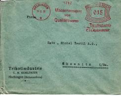 Deutsches Reich, Tricotindustrie C.M. Koblenzer, Massenerzeugung Von Qualitätswaren, Hechingen, 1931 (5930) - Textile