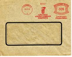 Deutsches Reich, Unitas, Strümpf-Fabriken, Chemnitz, 1931 (5932) - Textile