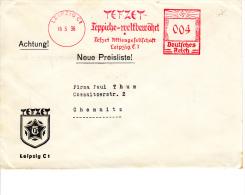 Deutsches Reich, Tefzet Teppiche-weltbewährt, Leipzig, 1936 (5938) - Textile
