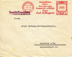 Deutsches Reich, Zwirnerei, Bleicherei, Färberei, Baumwoll Und Milchbarne, Carl Wagner, Kirchentellinsfurt, 1935 (5968) - Textile