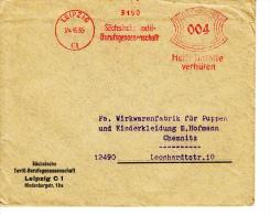 Deutsches Reich, Sächsische Textil-Berufsgenossenschaft, Leipzig, 1935 (5969) - Textile