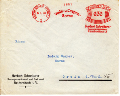 Deutsches Reich, Voile Und Crepon, Garne, Herbert Schreiterer, Kammgarnspinnerei Und Zwirnerei, Reichenbach, 1930 (5972) - Textile