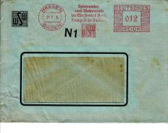 Deutsches Reich, Spinnereien Und Webereien Im Wiesental, Haagen, 1936 (5973) - Textile