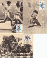 België, Maximumkaarten, Nr 1800/1802 (6770) - Ete 1976: Montréal