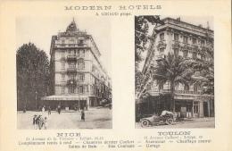 Modern H�tels - A. Giraud propri�taire - Nice - Toulon - Carte CAP non circul�e
