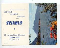 Versailles 78 : Mercerie Lingerie Layette SCHMID Rue Etats Gnéraux (calendrier 1969) 2 Scan - Calendriers