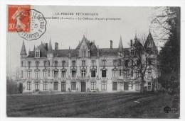 (RECTO / VERSO) CHARBONNIERES EN 1913 - LE CHATEAU - CACHET AMBULANT TRI FERROVIAIRE NOGENT LE ROTROU A COURTALAIN - Autres Communes