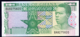 GHANA : 1 Cedis - 1982 - P17b - UNC - Ghana