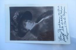 CARTE PHOTO  PEINTRE DEDICACE MARGUERITE BARBE PASQUIER - Arts