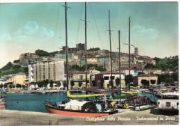 Toscana-grosseto-castiglione Della Pescaia Veduta Imbarcazioni In Porto Animata - Italia