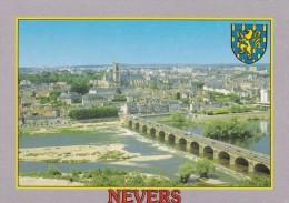 C P M---58---NEVERS---vue Aérienne, Le Pont Sur La Loire--voir 2 Scans - Nevers