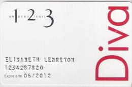 Carte Cadeau. Gift Card.  1 2 3   Un.deux.trois   Carte De Fidélité - Gift Cards