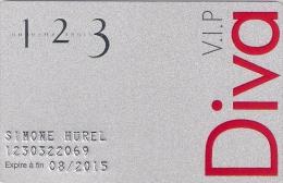 Carte Cadeau. Gift Card.  1 2 3   Un.deux.trois   Carte De Fidélité VIP - Gift Cards