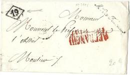 Cursive - Ministre Des Finances Pour Moulins (Allier). 1826. LAC En Franchise - 1801-1848: Precursors XIX