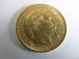 20 Francs OR Napoléon III 1863 BB (très Belle Qualité , Voir Les Photos ) : 3 752 567 Exemplaires - L. 20 Francs