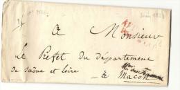 Cursive - Ministre Des Finances Pour Macon (Saone Et Loire). LAC De 1824 - 1801-1848: Precursors XIX