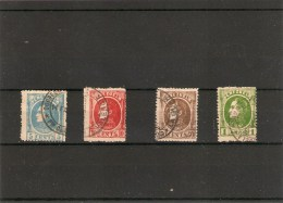 1880 Yvert 24,25,27,28 Obl Simon Bolivar - Venezuela