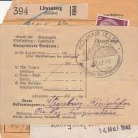 Bulletin D´Expédition De Löwenberg (Schles)  Du 4.5.42 Pour KOLMAR - Lettres & Documents