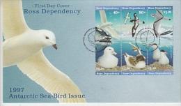 Ross Dependency 1997 Sea Birds 6v Se-tenant  FDC (F4225) - Ongebruikt
