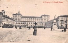 "02069 ""(2) TORINO- PALAZZO REALE"" ANIMATA, TRAMWAY.CART. ILLUSTR. ORIG. SPED. 1911 - Palazzo Reale"