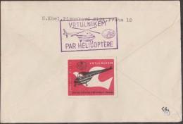 Tchécoslovaquie 1962 Mi 1356 Et 1359. Praha, Exposition Philatélique. Envoi Par Hélicoptère - Helicópteros